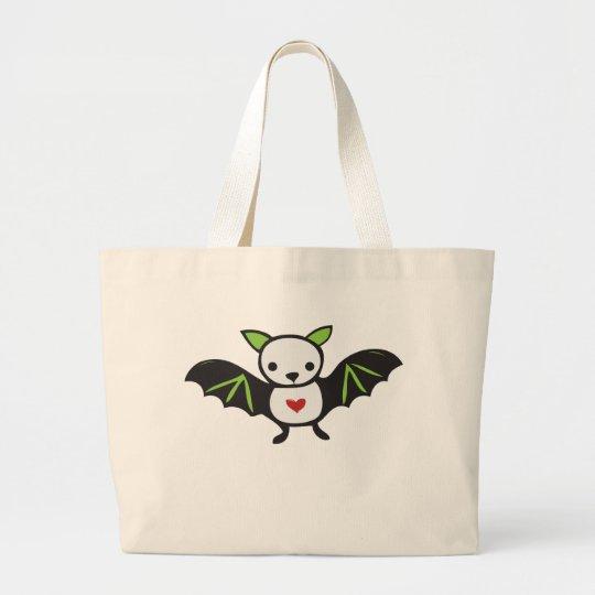 Cute Goth Bat Large Tote Bag