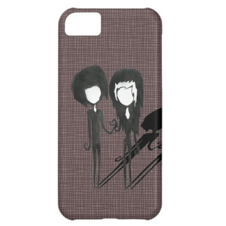 Cute Goth Emo Couple Boy and Girl Case For iPhone 5C