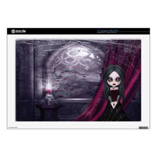 Cute Goth Girl by Spooky Window Laptop Skin