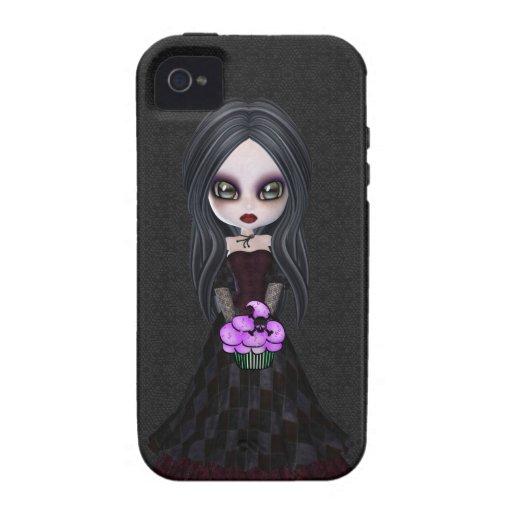 Cute Goth Girl & Cupcake iPhone 4 Case