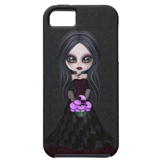 Cute Goth Girl & Cupcake iPhone 5 Case