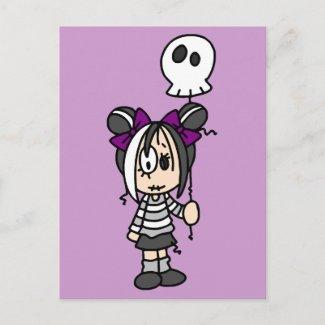 Cute Goth Girl zazzle_postcard