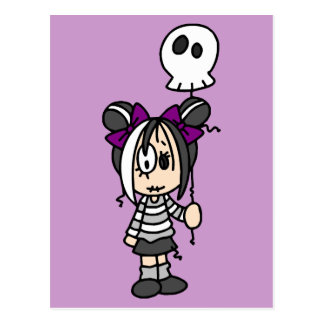 Cute Goth Girl Postcard