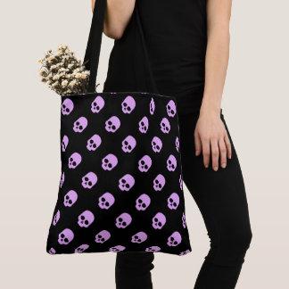 Cute Goth Pink Skulls Tote Bag