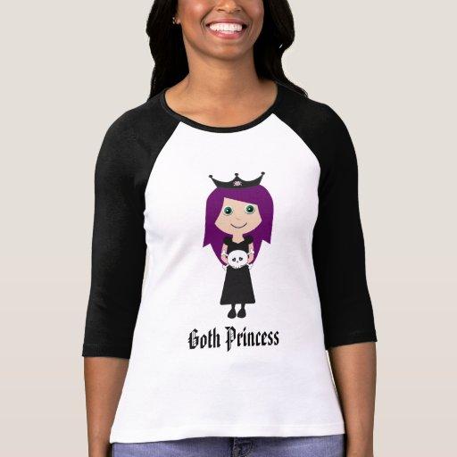 Cute Goth Princess Cartoon Character Shirts