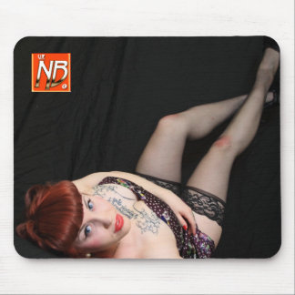 Cute Goth Redhead Pinup Mouse Pad