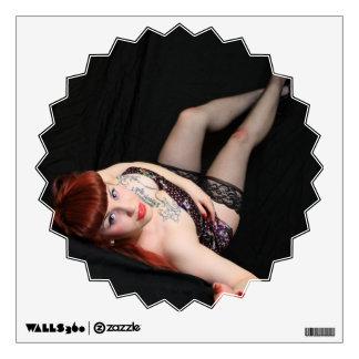 Cute Goth Redhead Pinup Wall Graphic