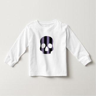 Cute goth striped skull toddler t-shirt