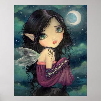 Cute Gothic Big-Eye Fairy Art Poster