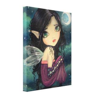 Cute Gothic Big-Eye Fairy Fantasy Art Stretched Canvas Prints