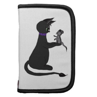 cute gothic cat mina with mouse  rickshaw foli planners