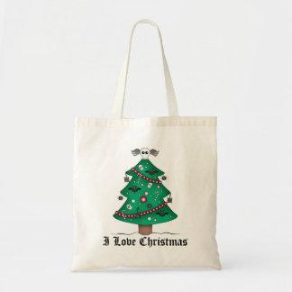Cute gothic Christmas tree Budget Tote Bag