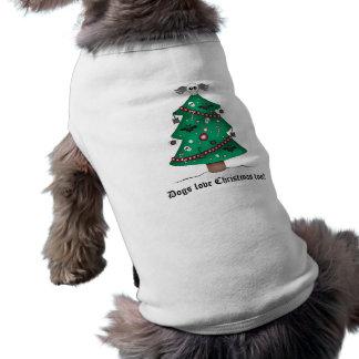 Cute gothic Christmas tree Pet Tshirt
