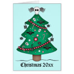 Cute gothic Christmas tree Greeting Card