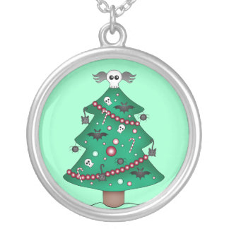 Cute gothic Christmas tree Custom Necklace