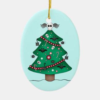 Cute gothic Christmas tree Christmas Tree Ornaments