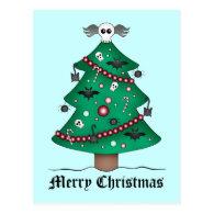 Cute gothic Christmas tree Postcard