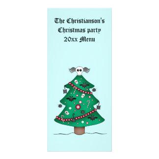 Cute gothic Christmas tree Rack Card Template