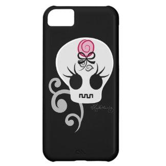 Cute Gothic Emo Skull iPhone 5C Cover