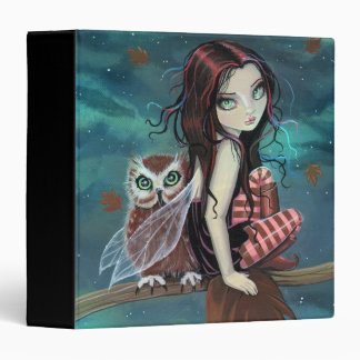 Cute Gothic Fairy and Owl Binder