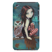 Cute Gothic Fairy and Owl Fantasy Art iPod Touch iPod Touch Cover