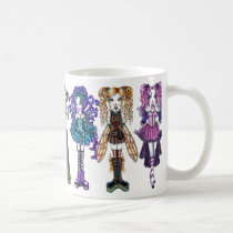 fairy, faery, faerie, fae, fairies, fantasy, pink, purple, gold, teal, gothic, emo, tribal, fusion, dragonfly, butterfly, rainbow, tattoos, pigtails, myka, jelina, kayla, maegan, piper, melita, demi, sadie, haylee, characters, Mug with custom graphic design