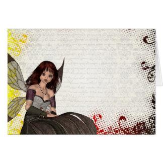 Cute Gothic fairy Card