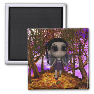 Cute Gothic Fairy Girl Flying 2 2 Inch Square Magnet