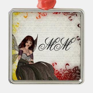 Cute Gothic fairy Metal Ornament
