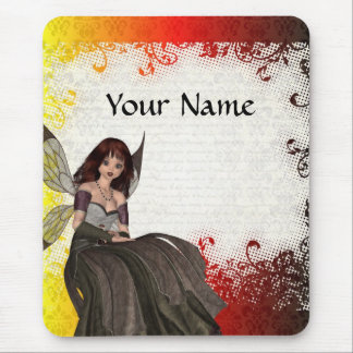 Cute Gothic fairy Mouse Pad
