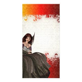 Cute Gothic fairy Custom Photo Card
