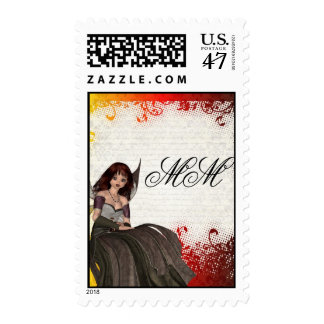 Cute Gothic fairy Postage
