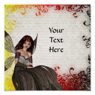Cute Gothic fairy Poster