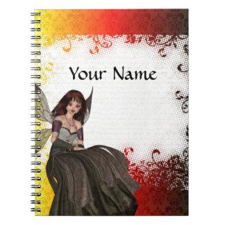 Cute Gothic fairy Spiral Notebook