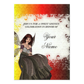 Cute Gothic fairy sweet sixteen Card