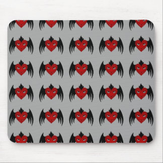 Cute gothic flying vampire hearts mouse pad
