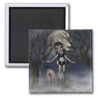 Cute Gothic Girl 5 Fridge Magnets