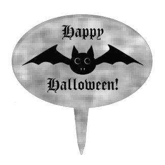 Cute gothic Halloween vampire bat with big eyes Cake Topper