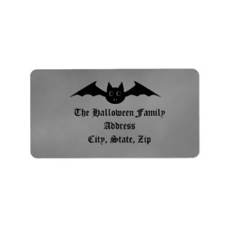 Cute gothic Halloween vampire bat with big eyes Personalized Address Labels