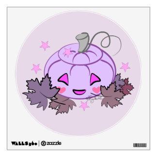 Cute Gothic Purple Jack o' Lantern Wall Decal