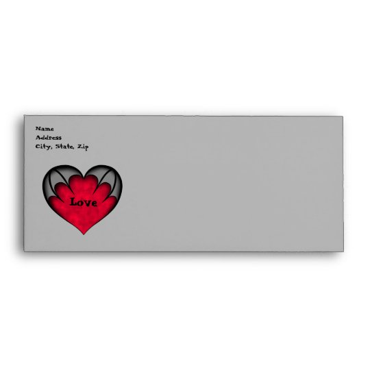 Cute gothic red heart Valentine's day Envelope