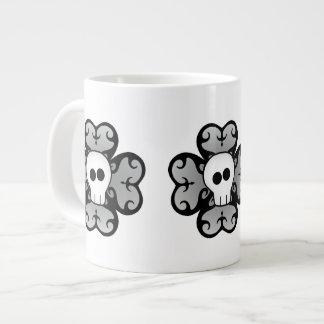 Cute gothic shamrock and skull St Patricks day 20 Oz Large Ceramic Coffee Mug
