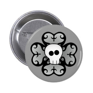 Cute gothic shamrock and skull St. Patrick's day Buttons
