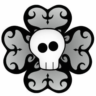 Cute gothic shamrock and skull St. Patrick's day Photo Cut Out