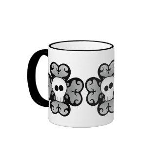 Cute gothic shamrock and skull St Patricks day Ringer Coffee Mug