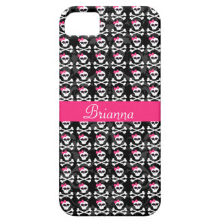 Cute Gothic Skull and Crossbones Girly Skulls iPhone SE/5/5s Case