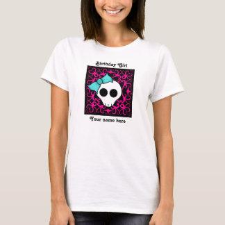 Cute gothic skull birthday birthday girl T-Shirt