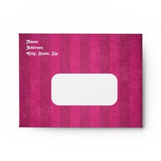 Cute gothic skull fuschia note card size sweet 16 envelopes