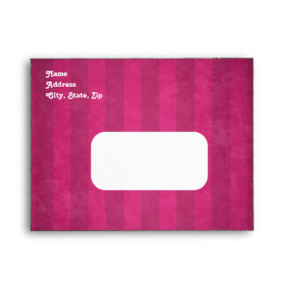 Cute gothic skull fuschia note card size sweet 16 envelope