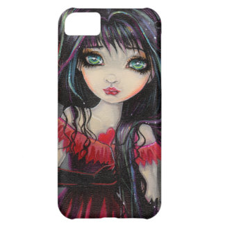 Cute Gothic Vampire Fairy with Hearts Cover For iPhone 5C